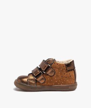 Chaussures de marche bébé dessus cuir brillant - Bopy vue3 - BOPY - Nikesneakers