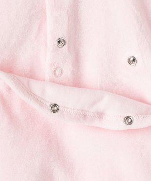 Pyjama bébé fille en velours avec volants sur les épaules vue3 - GEMO(BB COUCHE) - GEMO