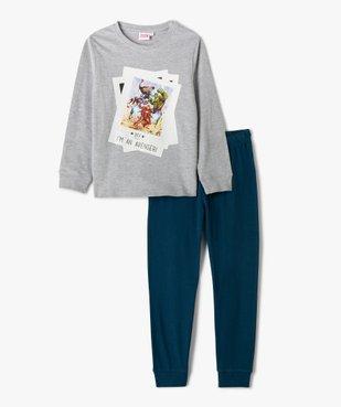 Pyjama garçon bicolore avec motif Avengers – Marvel vue1 - MARVEL DTR - GEMO