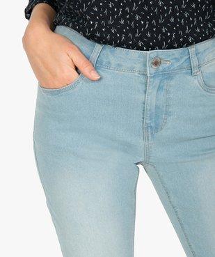 Pantacourt femme en jean délavé 5 poches et taille normale vue2 - GEMO C4G FEMME - GEMO