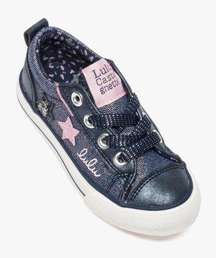 Baskets fille avec paillettes et étoiles - LuluCastagnette vue5 - LULU CASTAGNETT - Nikesneakers