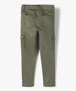 Pantalon fille avec poches à rabat sur les cuisses vue4 - GEMO C4G FILLE - GEMO