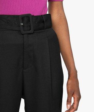 Pantalon femme en toile coupe carotte vue2 - GEMO(FEMME PAP) - GEMO