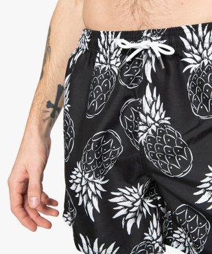 Short de bain homme motif ananas vue2 - GEMO (PLAGE) - GEMO