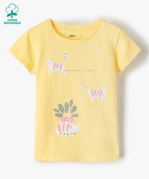 Tee-shirt fille à manches courtes avec motifs pailletés vue1 - Nikesneakers C4G FILLE - Nikesneakers