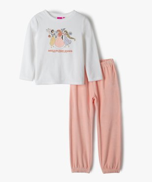 Pyjama fille en velours bicolore imprimé - Princesses Disney vue1 - DISNEY DTR - GEMO