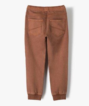 Pantalon garçon multipoches avec taille élastiquée vue4 - GEMO (ENFANT) - GEMO