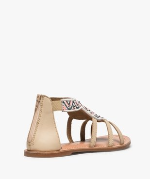 Sandales fille zippées ornées de perles et de strass vue4 - GEMO (ENFANT) - GEMO