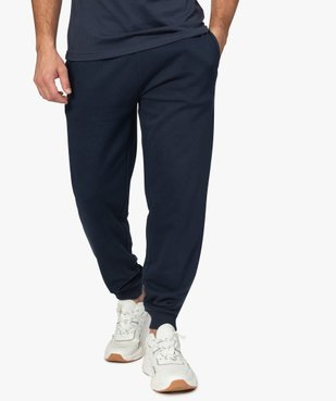 Pantalon de jogging homme contenant du coton bio vue1 - GEMO C4G HOMME - GEMO