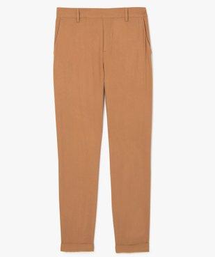 Pantalon femme fluide avec taille élastiquée vue4 - GEMO(FEMME PAP) - GEMO