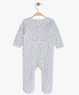 Pyjama bébé en jersey à motif tigre vue3 - GEMO(BB COUCHE) - GEMO