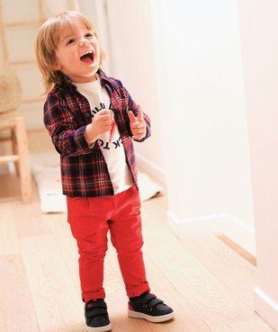 Pantalon bébé garçon en toile à pinces – Lulu Castagnette vue6 - LULUCASTAGNETTE - GEMO