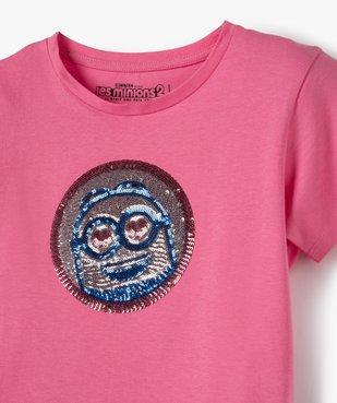 Tee-shirt fille avec motif en sequins brodés – Les Minions 2 vue2 - NBCUNIVERSAL - Nikesneakers