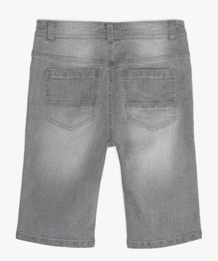 Bermuda garçon en jean 5 poches vue3 - GEMO (JUNIOR) - GEMO