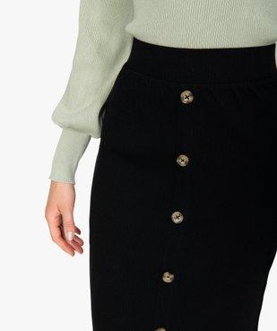 Jupe femme longueur midi coupe droite en maille côtelée vue2 - GEMO(FEMME PAP) - GEMO