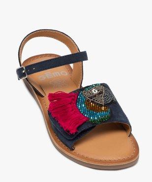 Sandales fille en cuir avec perroquet brodé vue5 - GEMO (ENFANT) - GEMO