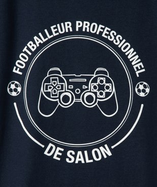 Tee-shirt garçon ado motif fantaisie football vue2 - SANS MARQUE - GEMO