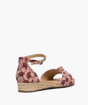 Sandales femme à petit talon compensé et dessus drapé vue4 - GEMO (CASUAL) - GEMO