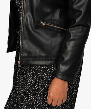 Veste femme col rond et fermeture zippée vue2 - GEMO (G TAILLE) - GEMO