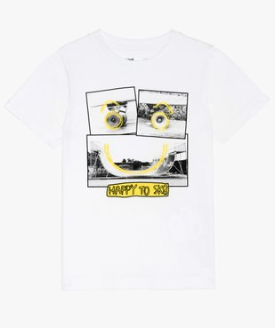 Tee-shirt garçon avec photo motif skate  vue1 - GEMO C4G GARCON - GEMO