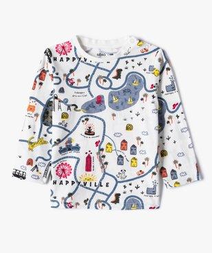 Tee-shirt bébé garçon à manches longues avec motifs (lot de 2) vue2 - GEMO(BEBE DEBT) - GEMO