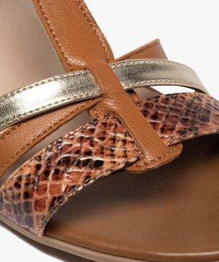 Sandales femme à talon carré et brides en cuir vue6 - GEMO(URBAIN) - GEMO