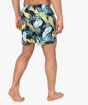 Short de bain homme motif feuillage multicolore vue3 - GEMO (PLAGE) - GEMO