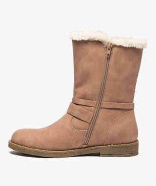 Boots fourrés femme unis à bride décorative vue3 - GEMO (CASUAL) - GEMO