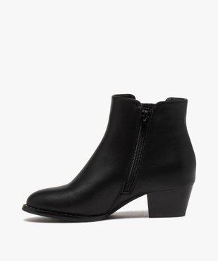 Boots fille unies à talon et élastique pailleté rock vue3 - GEMO (ENFANT) - GEMO