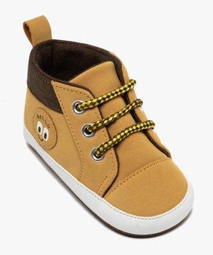 Chaussons de naissance bébé garçon style boots à lacets vue5 - Nikesneakers C4G BEBE - Nikesneakers