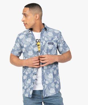 Chemise homme à manches courtes imprimé feuillage - Roadsign vue1 - ROADSIGN - GEMO