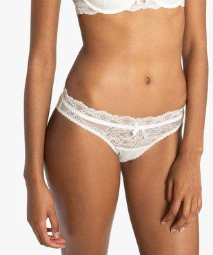 Culotte femme en dentelle et voile plumetis vue1 - Nikesneakers(HOMWR FEM) - Nikesneakers