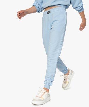 Jogging fille en jersey fin et taille élastiquée vue1 - GEMO (JUNIOR) - GEMO