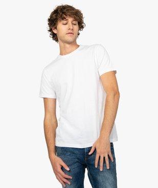 Tee-shirt homme regular à manches courtes en coton bio vue1 - GEMO C4G HOMME - GEMO