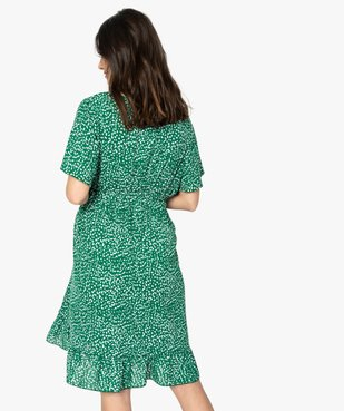 Robe de grossesse imprimée forme portefeuille  vue3 - GEMO (MATER) - GEMO
