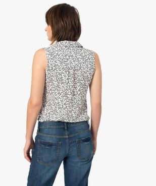 Chemise femme imprimée sans manches vue3 - GEMO(FEMME PAP) - GEMO
