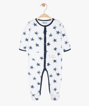 Pyjama bébé garçon en velours motif étoiles vue1 - GEMO(BB COUCHE) - GEMO