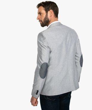 Veste de costume homme avec coudières contrastantes vue3 - GEMO (HOMME) - GEMO