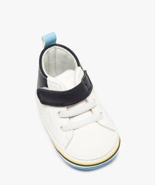 Chaussons de naissance garçon style baskets vue5 - Nikesneakers(BB COUCHE) - Nikesneakers