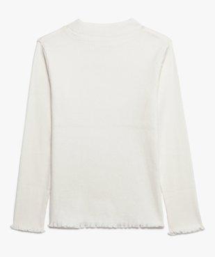Tee-shirt fille en maille côtelée avec du coton bio vue2 - GEMO C4G FILLE - GEMO
