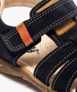 Sandales garçon unies à brides en cuir - Bopy vue6 - BOPY - Nikesneakers