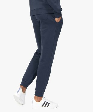 Pantalon de jogging homme contenant du coton bio vue3 - GEMO C4G HOMME - GEMO