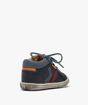 Chaussures premiers pas bébé garçon à lacets - Bopy vue4 - BOPY - GEMO