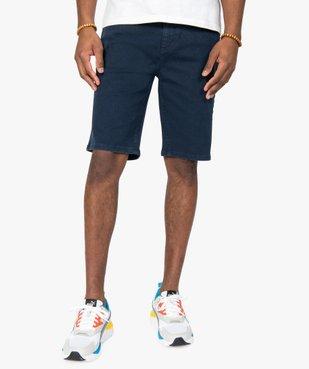 Bermuda homme en toile de coton épaisse coupe jean vue2 - GEMO (HOMME) - GEMO