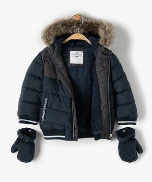 Blouson bébé garçon avec moufles amovibles - Lulu Castagnette vue3 - LULUCASTAGNETTE - GEMO