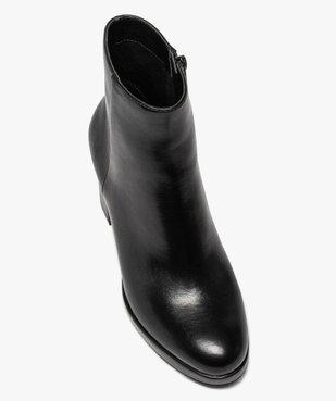 Boots femme unies à talon carré et semelle plateforme vue5 - GEMO(URBAIN) - GEMO