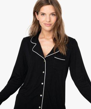 Pyjama femme deux pièces : chemise et pantalon vue2 - GEMO(HOMWR FEM) - GEMO