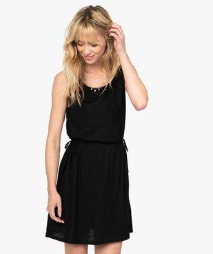 Robe tee-shirt femme avec liens à la taille vue1 - GEMO(FEMME PAP) - GEMO