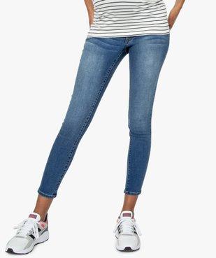 Jean de grossesse slim 4 poches avec bandeau jersey vue1 - GEMO (MATER) - GEMO