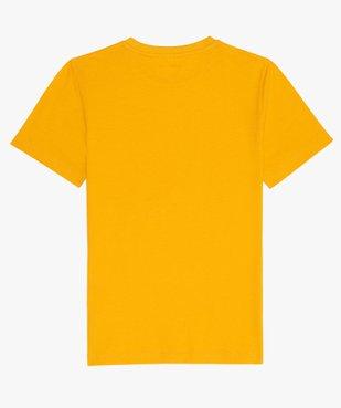 Tee-shirt garçon à manches courtes uni  vue2 - GEMO C4G GARCON - GEMO